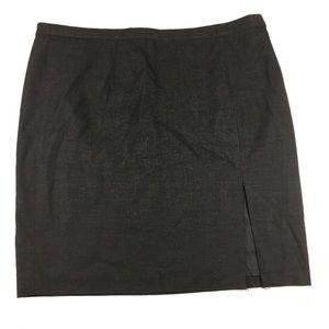 Michael Kors Gray Slit Pencil Skirt